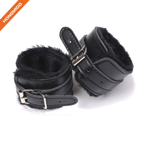PU Leather Hand Ankle Bound Restraints Costume Bondage Slave Toys Tools Sexy Hand Cuffs