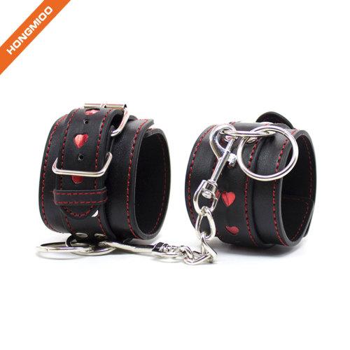 Adjustable Plush PU Leather Slave Wrist & Ankle Handcuffs Hand Restraints Toy G-Spot Set