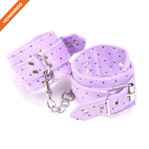 Soft PU Leather Sexy Handcuffs Set for Couple Adult Sex Play