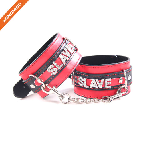 SM Slave Hand Restrain Belt Popular Artificial Leather Handcuffs