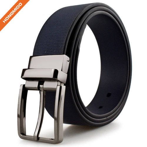 Eco-friendly Men Pu Leather Double Color Reversible Belt