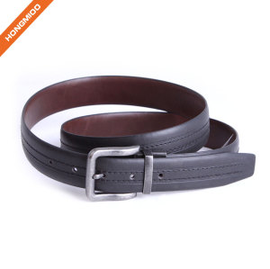 All-match Zinc Alloy Reversible Pin Buckle Belt With Private Label