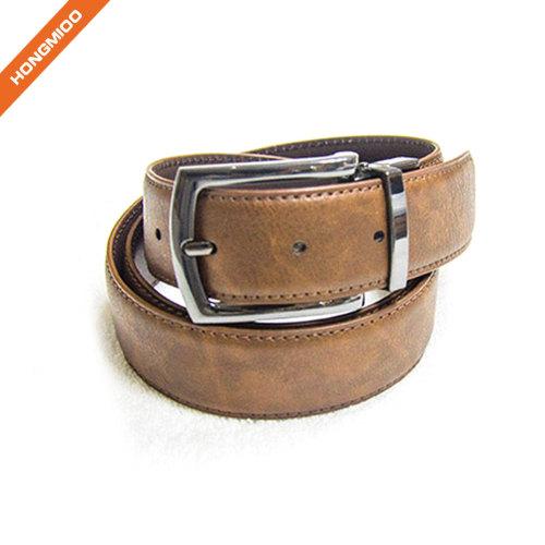 Double Colour Men Business Custom Reversible Belt Factory