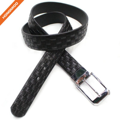 Casual Men Black Reversible Buckle Belt From China