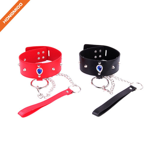 Adjustable Leather Neck Collar Choker Sexy Necklace Women Favorite SM Tool