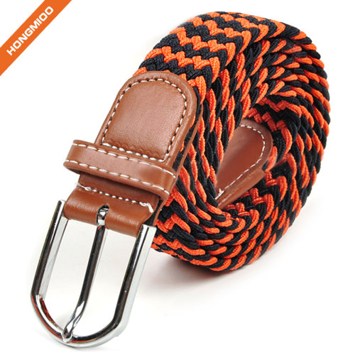 Comfortable Soft Mix Color Sport Belts Polyester Nylon Fabric Braided Belts
