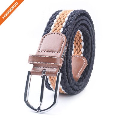 Fashion High Quality Beige Sports Belts Polyester Nylon Fabric Braided Belts