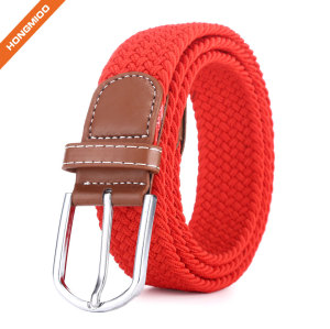 Colorful Sports Belts Polyester Nylon Fabric Braided Belts