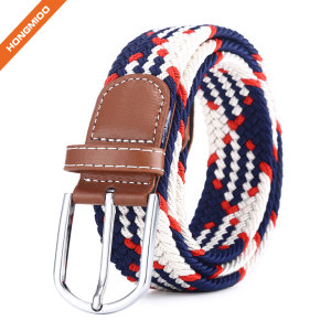 Promotional Online Shopping Comfortable Soft Stretch Polyester Nylon Fabric Braided Belts