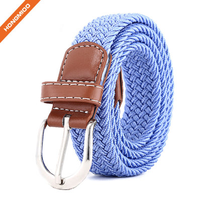 Comfortable Soft Stretch Woven Sport Belts Polyester Nylon Fabric Braided Belts