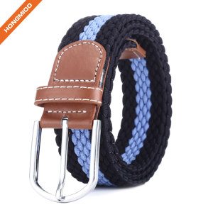 China Supplier Black Sports Belts Polyester Nylon Fabric Braided Belts