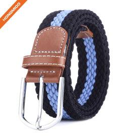 China Supplier Black Sports Belts Polyester Nylon Fabric Braided Belts