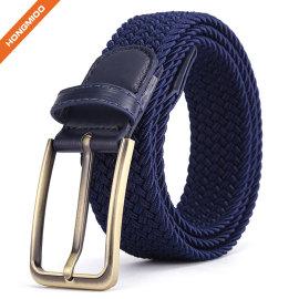 Fashion High Quality Polyester Nylon Fabric Braided Belts