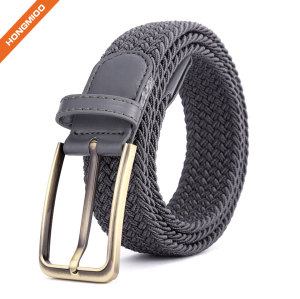 Women Sports Belts Grey Polyester Nylon Fabric Braided Belts