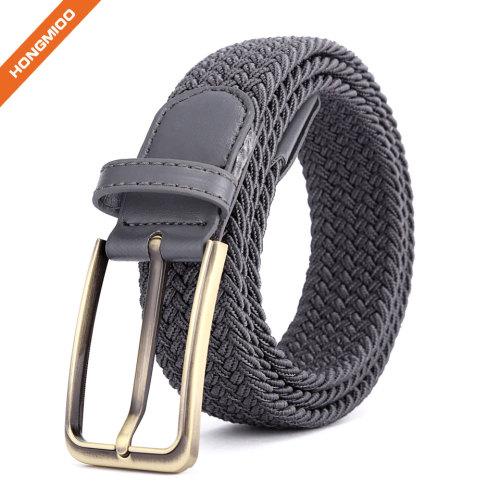 Women Sports Belts Grey Polyester Nylon Fabric Braided Belts