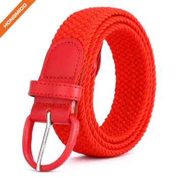 Canvas Web Belts for Women Adjustable Multi-color Hole Buckle Belt Leisure Strap