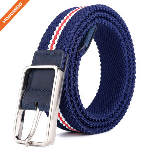 Canvas Elastic Fabric Woven Stretch Multicolored Braided Belts