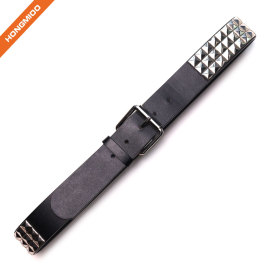 Hongmioo Rivet Pyramid Style PU Pin Buckle Belt