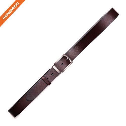 Hongmioo Mens Full Grain Leather Pin Buckle Belt
