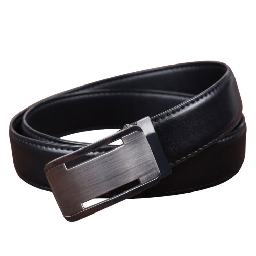 Men's Leather Automatic Buckle Personality Plate Buckle Belt