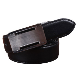 Zinc Alloy Buckle Belt Plate Buckle Cowhide Leather Belt For Men