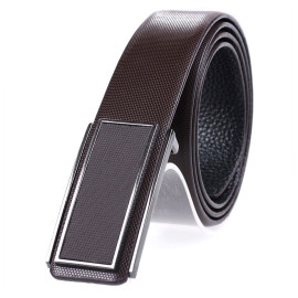 Business Belt With Metal Buckle Men Leisure Top Leather Belt
