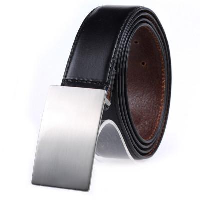 Men's Slide Buckle Belt  Pure Leather Business Casual Belt