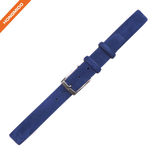 Hongmioo Mens Pin Buckle Suede Leather Belt