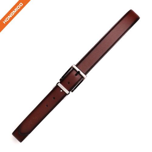 Hongmioo Formal Style Mens Reversible Pin Buckle Leather Belt