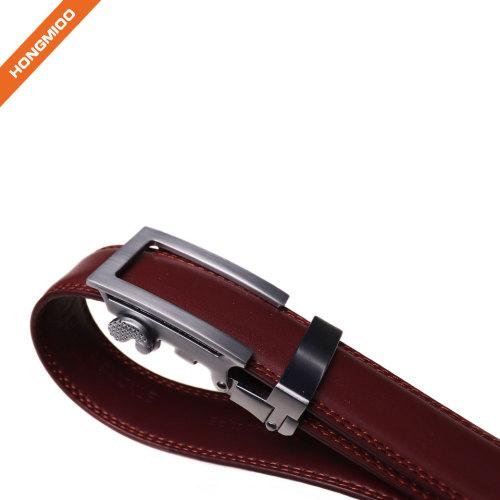Hongmioo New Ratchet Automatic Buckle Custom Color Full Grain Mens Dress Leather Belts