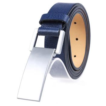 Men's Casual Spilt Leather Belt With Zink Alloy Slide Buckle