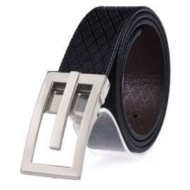 Fashion Zink Alloy Plate Buckle Belt Genuine Leather Belt For Men