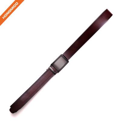 Hongmioo Factory OEM ODM Brown 100% Cowhide Slid Automatic Buckle Men Leather Belt