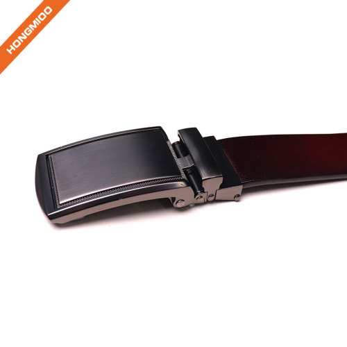Hongmioo Factory OEM ODM Brown 100% Cowhide Slid Automatic Buckle Men Leather Belt
