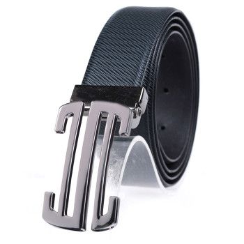 Slide Buckle Leather Belt Business Belt For Men