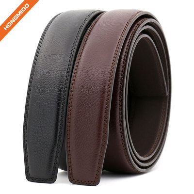 Hongmioo Automatic Mens Split Leather Belt No Buckle Strap