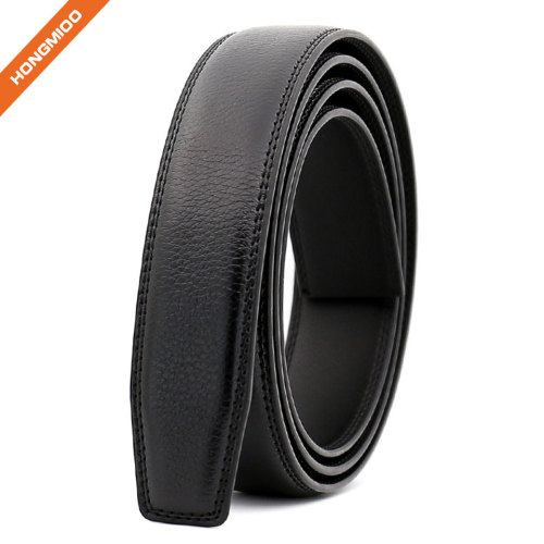 Hongmioo Automatic Mens Split Leather Belt No Buckle Strap