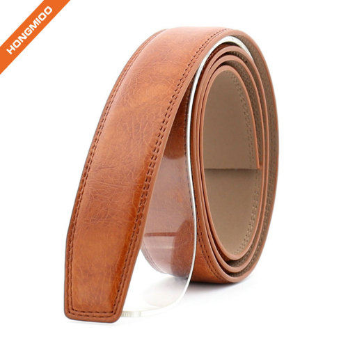 Hongmioo Mens Ratchet Split Leather Belt Strap with No Buckle