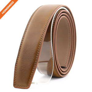 Hongmioo Mens Ratchet Split Leather Belt Strap with No Buckle