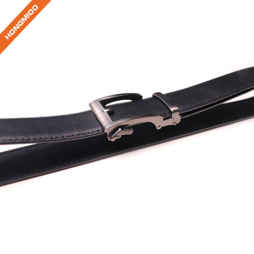Hongmioo New Arrival Automatic Buckle Split Cowhide Comfort Genuine Leather Ratchet Dress Belt