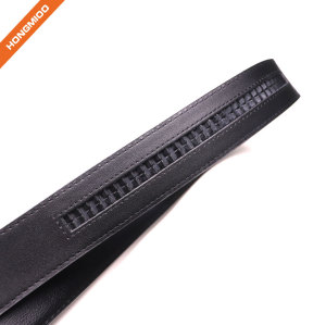 Hongmioo New Arrival Automatic Buckle Split Cowhide Comfort Genuine Leather Ratchet Dress Belt