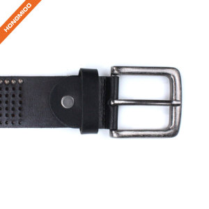 Hongmioo Mens Full Grain Genuine Leather Rivet Belt