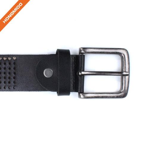 Hongmioo Mens Full Grain Genuine Leather Rivet Belt