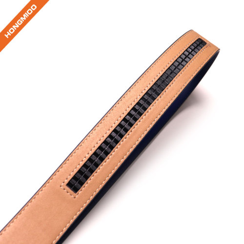 Factory Custom Your Own Belt Smooth Texture Automatic Split Leather Belt for Men
