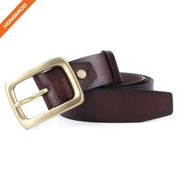 Hongmioo Mens Soft Full Grain Genuine Leather Belt for Men