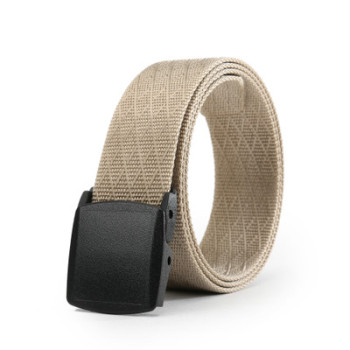 Men's Nylon Belt New Style Jeans Belt With Plastic Buckle