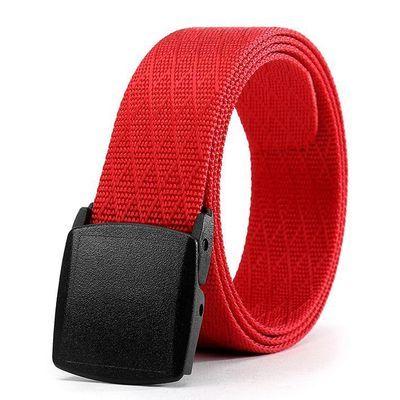 Men's Nylon Belt New Style Jeans Belt With Plastic Buckle