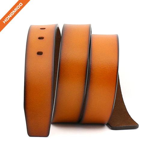 Hongmioo Retro Male Split Leather Waist Belt Strap without Pin Buckle