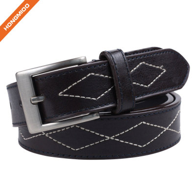 Hongmioo Pin Buckle Adjustable Men Pu Belt
