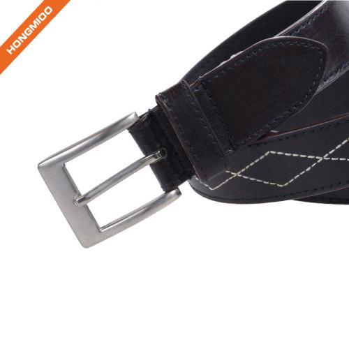 Hongmioo Pin Buckle Adjustable Men Pu Belt